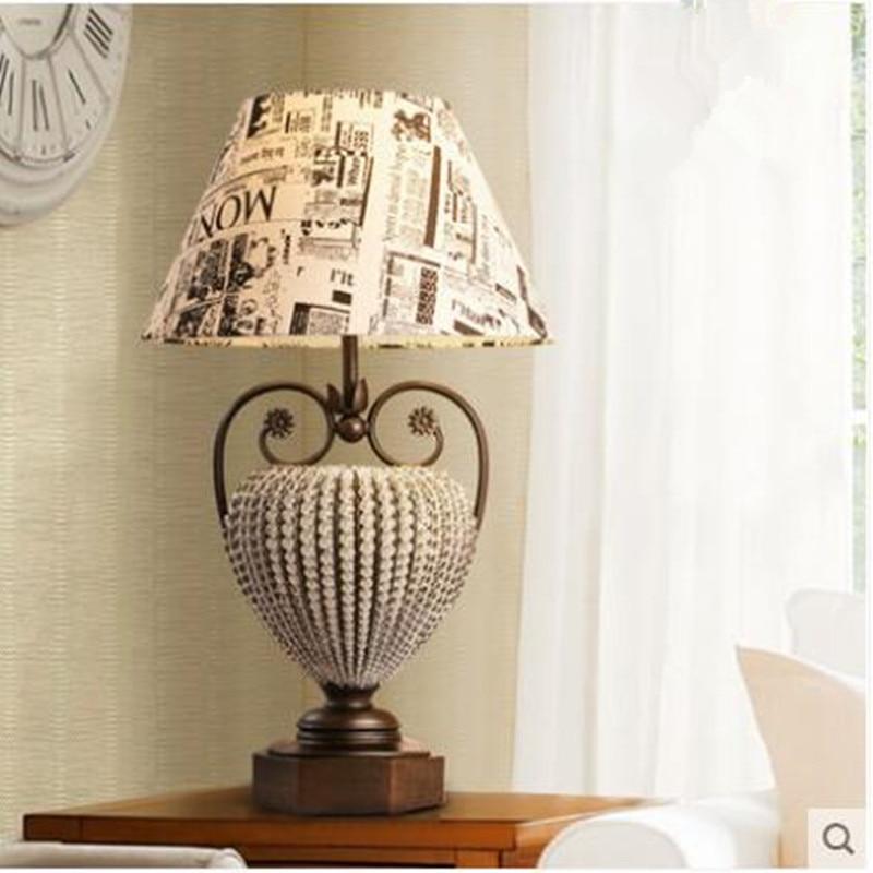 Lampe de chevet de chambre rétro pays américain graffiti anglais cristal bureau de luxe étude lecture lampe de table décorative LO81812