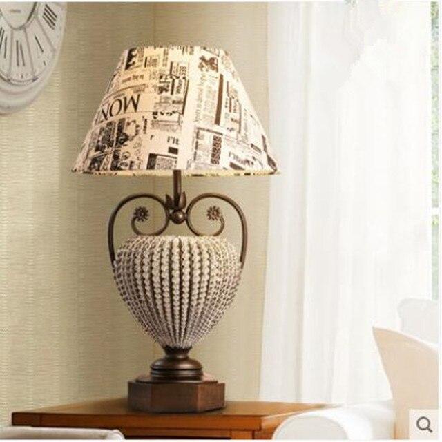 269 1 12 De Reduction Lampe De Chevet De Chambre Retro Pays Americain Graffiti Anglais Cristal Bureau De Luxe Etude Lecture Lampe De Table
