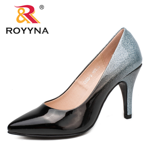 Image 4 - ROYYNA New Arrival Fashion Style Women Pumps Pointed Toe Women Shoes Shallow Lady Wedding Shoes Comfortable Soft Free Shipping