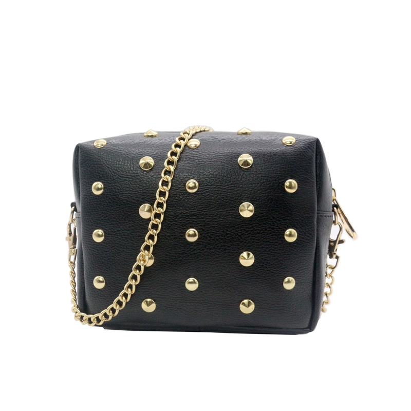 Women  Messenger Bags 2015 New  Rivet Chain Shoulder Bags Women Leather Party  Crossbody Purse For Ladies