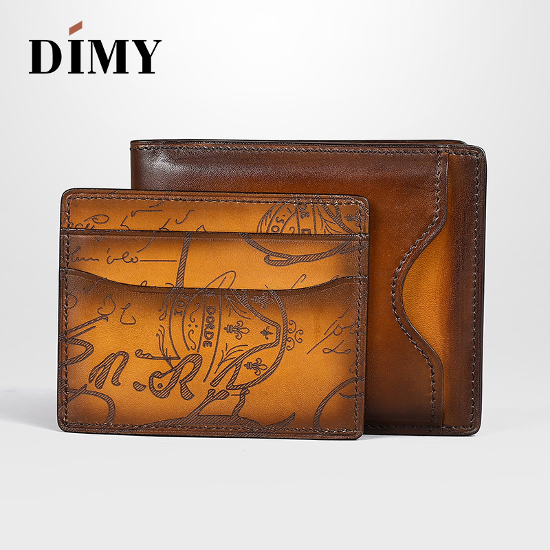 Dimy Fashion Men Wallets Small Money Purse Coin Bag Short Male Genuine Leather Wallet Card Holder Slim Purse Wallet Men's Purses cry emoji cartoon flock flat plush winter indoor slippers women adult unisex furry fluffy rihanna warm home slipper shoes house