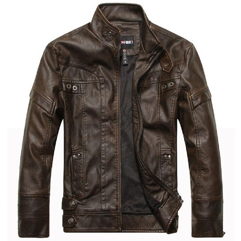 Nova marca de moda mens jaqueta de couro homens jaqueta de couro roupas de couro jaqueta de outono & inverno negócio casaco casuais