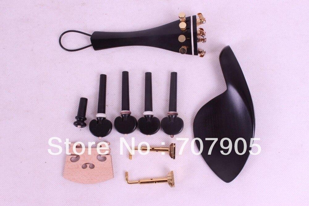 4/4 violin ebony parts,tailpiece tuner peg chinrest bridge chinrest clamp #E32-1 new 5 set 4 4 violin parts ebony tailpiece peg chinrest accessories e16