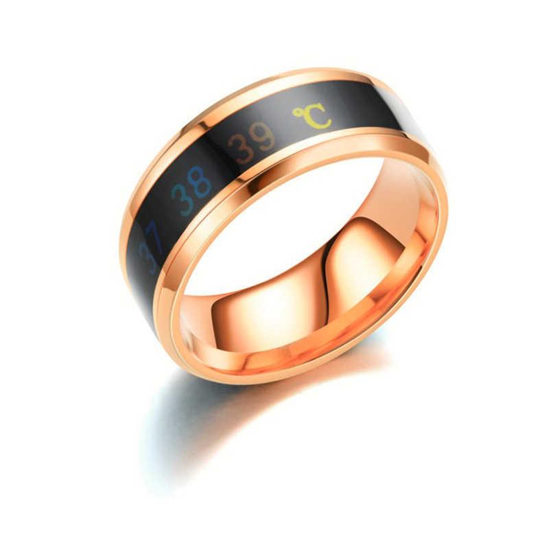แหวน menTemperature แหวนความรู้สึกอัจฉริยะแหวนแหวนสแตนเลสแหวน