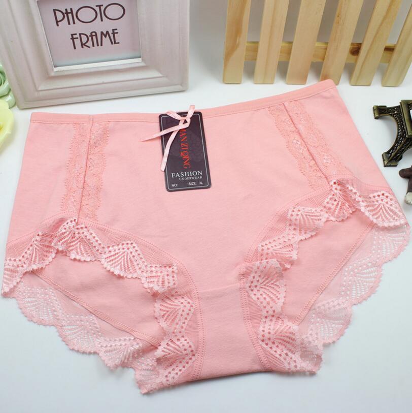 Plus Size L/3XL Fashion High Quality Women's   Panties   Transparent Underwear Women Lace Soft Briefs Sexy Lingerie