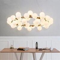 Modern Pendant Light LED magic beans hanging lights Nordic Art Globe glass shade dinning room industrial lamps Home Lighting