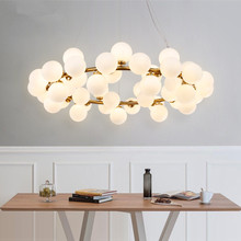 Modern magic beans DNA LED Pendant Light hanging lights Nordic Art Globe glass shade dinning room industrial lamps Home Lighting