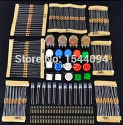 a set of resistors for arduino - 1 sets Handy Portable Resistor Kit for Arduino Starter Kit UNO R3 LED potentiometer tact switch pin header