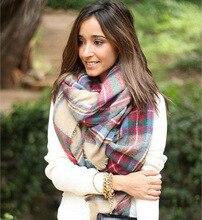 Z Winter Tartan Thickened Scarf Plaid Scarf cuadros New Designer Shawls Women s Imitation Cashmere Scarves