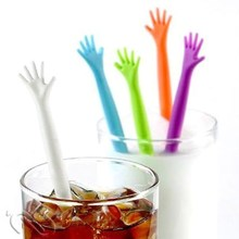 1pcs Drink Stirrers Bar Pub Party Kitchen Cocktail Swizzle Sticks Random Color(China)