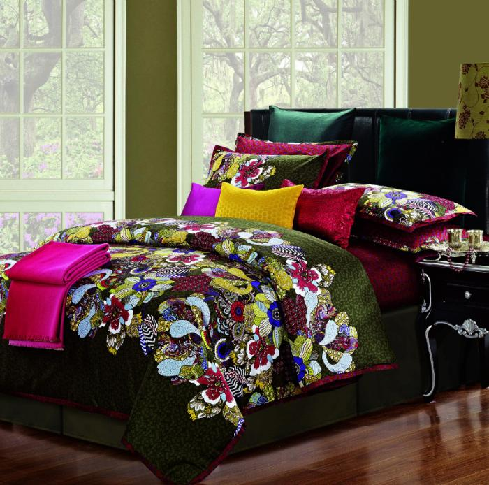 Egyptian Cotton Silk Satin Luxury Comforter Bedding Set