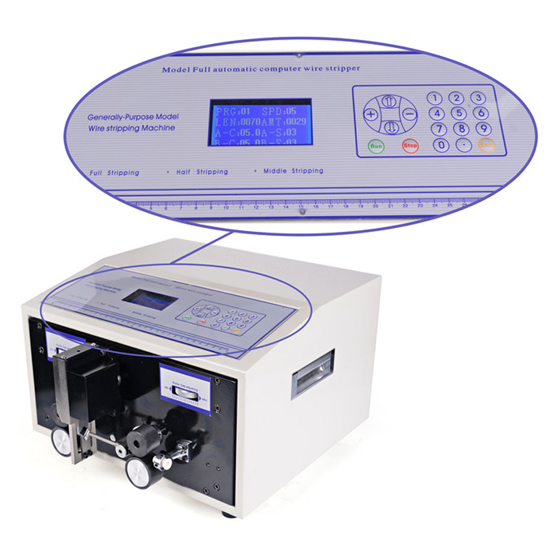 Computer Automatic Wire Stripping Machine Cable Wire Stripper Cable Crimping and Peeling from 0.1 - 2.5mm2 SWT508C цена
