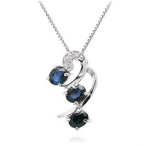 Collier Collares Qi Xuan_Dark подвеска с синим камнем Necklaces_Real necklaces_качество guaranteed_производитель прямые продажи