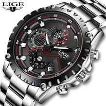 Get more info on the LIGE Brand Men's Fashion Watches Men Sport Waterproof Quartz Watch Man Full Steel Military Clock Wrist watches Relogio Masculino