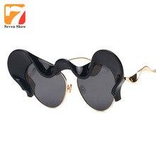 Роскошные кошачий глаз Солнцезащитные очки для женщин Для женщин Брендовая Дизайнерская обувь стимпанк очки Защита от солнца Очки для дам женские Защита от солнца стекло Óculos де золь