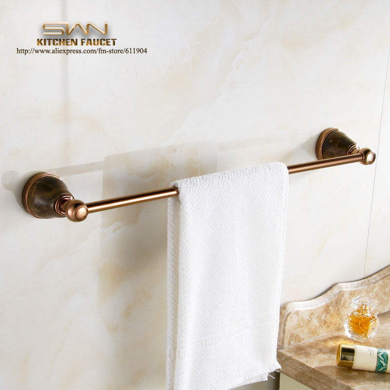 Rose Red Bathroom Towel Bar Rack Single Holder Bathroom Accessaries Hardware 60cm 3E62011