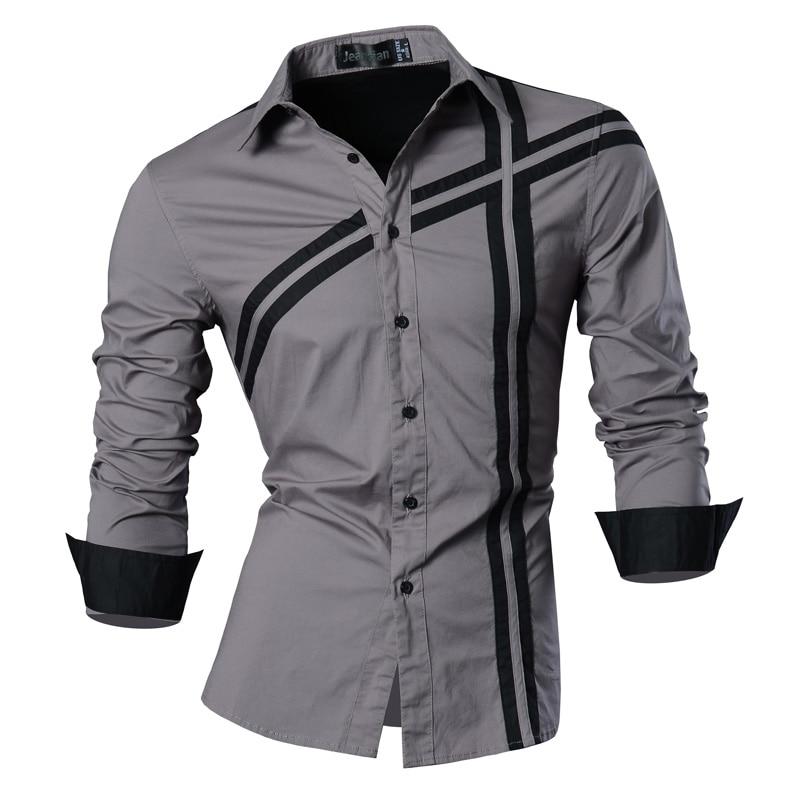 2019 Primavera Otoño Características Camisas Hombres Camisa Casual - Ropa de hombre - foto 3