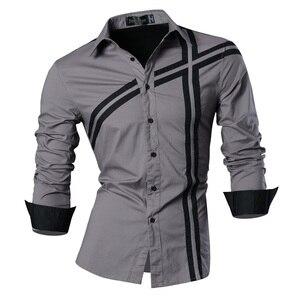 Image 3 - Jeansian bahar sonbahar özellikleri gömlek erkekler günlük kot gömlek yeni varış uzun kollu Casual Slim Fit erkek gömlek Z006