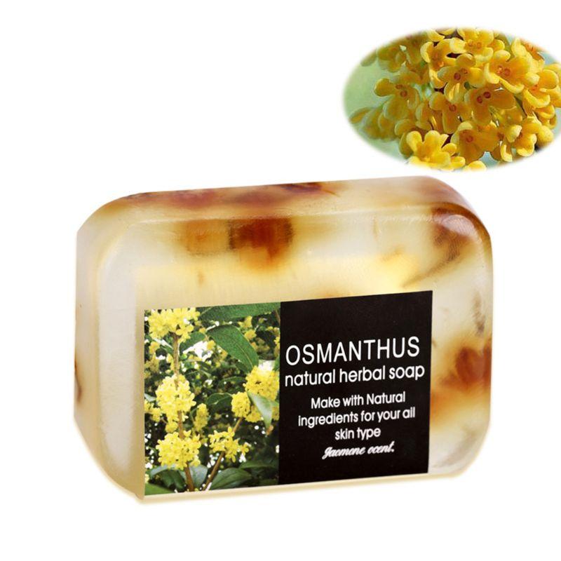 90g flor de jasmim perfumado sabonete artesanal oleo essencial de aromaterapia natural da pele do rosto