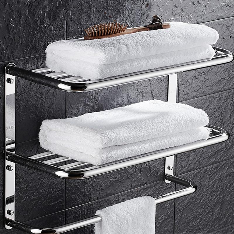 Sus 304 Stainless Steel Bathroom Shelf