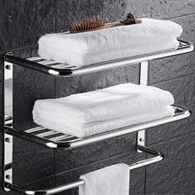 Sus 304 полка для ванной из нержавеющей стали 3 слоя квадратная для косметики и shapoo вешалка для полотенец для ванной комнаты Набор для ванной комнаты