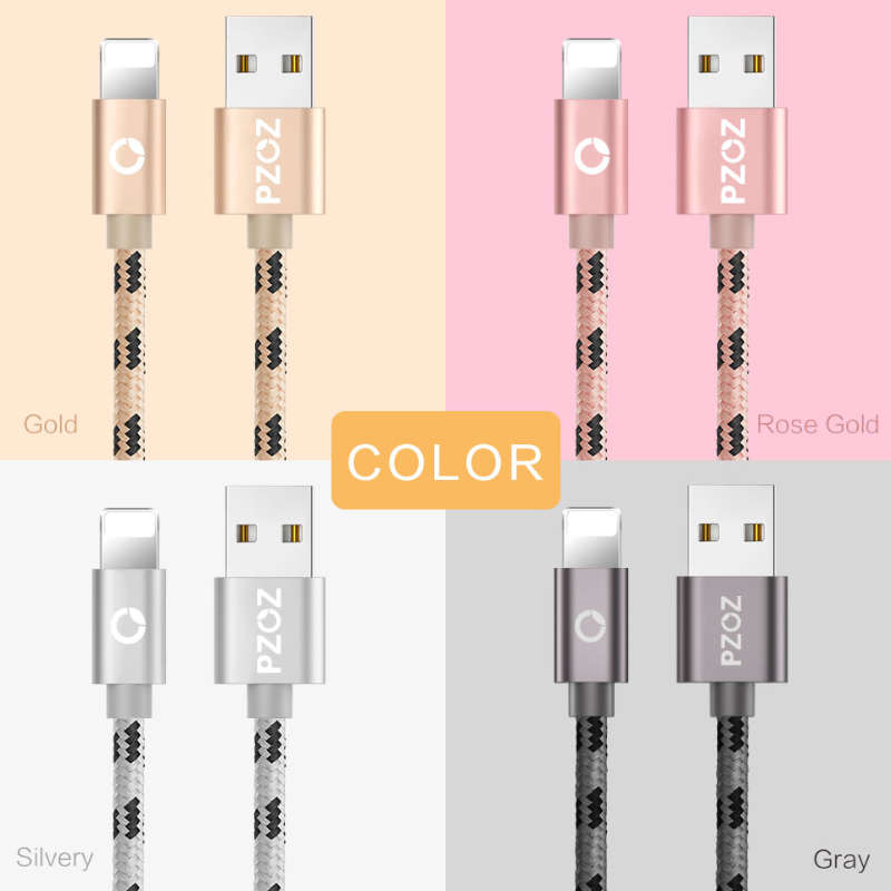 PZOZ кабель usb для кабеля iphone 8 7 6 плюс 6s 5 5s 5c se x iphone6 ipad air mini 4 данные быстрый зарядное устройство кабель 2m освещения мобильный телефон зарядка а...