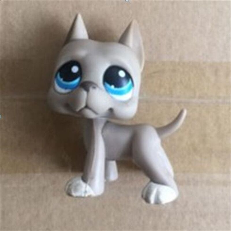 Pet Shop toys dog GREAT DANE Collections brown dog star eyes Rare old collections figure toys freen shipping pet shop toys dachshund 932 bronw sausage dog star pink eyes