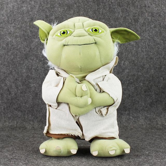 35 cm Star Wars Yoda Juguetes de Peluche Suave Juguetes de Peluche Niños Muñeca Yoda Suave Muñeca de Cumpleaños Gifs