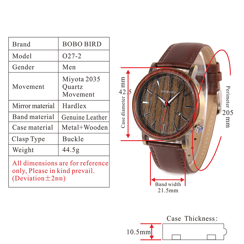 wooden watches bobo bird fashion new leather watches