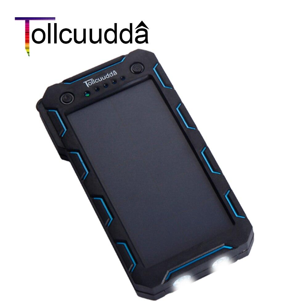 Цена за Tollcuudda 13000 мАч солнечной энергии Банк Внешний аккумулятор водонепроницаемый POWERBANK Портативное зарядное устройство повербанк для Xiaomi iphone 6S