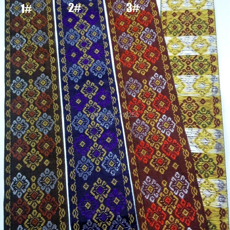 3 Colors 5cm 50mm 2 Silky Mercerizing Glossy Costume Curtain Cotton National Jacquard Woven Ribbon Laciness Embroidery Webbing3 Colors 5cm 50mm 2 Silky Mercerizing Glossy Costume Curtain Cotton National Jacquard Woven Ribbon Laciness Embroidery Webbing