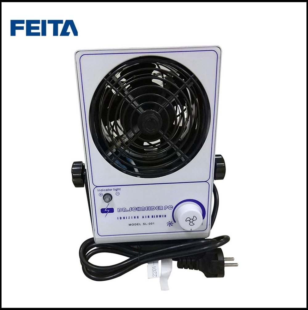 FEITA SL-001 Small Electric Ionizing Cool Air Blower ESD Ionizer Air Blower Fan for Static Free sl 001 pc esd ionizer fan esd ionizing air blower