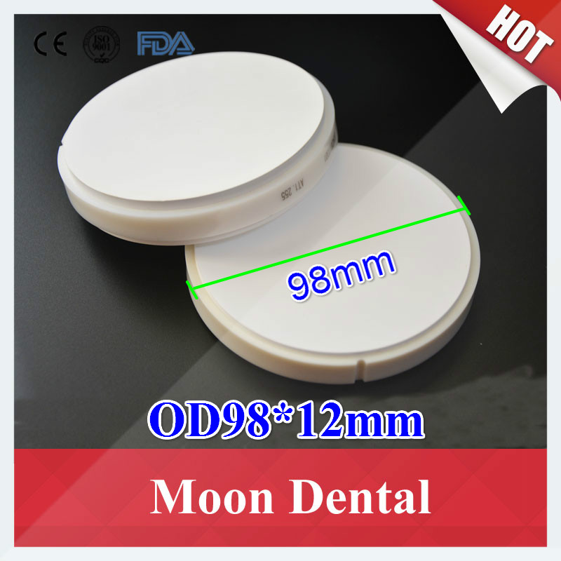5 PCS/lot OD98*12mm Wieland System HT ST Dental CAD/CAM Zirconia Blocks with Plastic Ring Outside for Porcelain Dentures 10 pcs lot ht st od98 16mm wieland system dental zirconia blocks pucks with plastic ring outside for cad cam milling machine