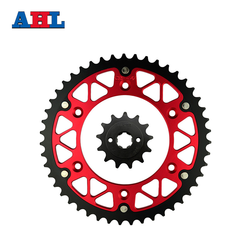 Motorcycle Parts Front & Rear Sprockets Kit for Honda CRF150F CRF150 CRF 150 F 2003-2012 CRF230F 2004-12 Gear Fit 520 Chain for honda crf 250r 450r 2004 2006 crf 250x 450x 2004 2015 red motorcycle dirt bike off road cnc pivot brake clutch lever