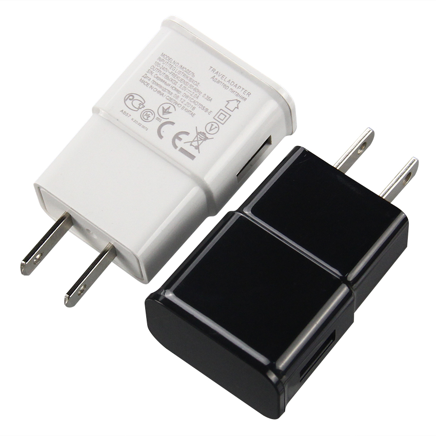 100pcs lot 5V 2A 1A AC USB Port Power Wall Charger 2 Amp Adapter Travel US