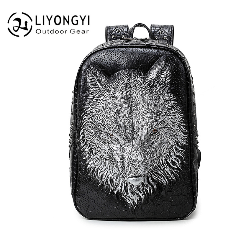 New Personality 3D Foxtrel PU Leather Backpack Women and Men School Bags For Teenagers Girls Boys Casual Style Travel Backpacks new gravity falls backpack casual backpacks teenagers school bag men women s student school bags travel shoulder bag laptop bags