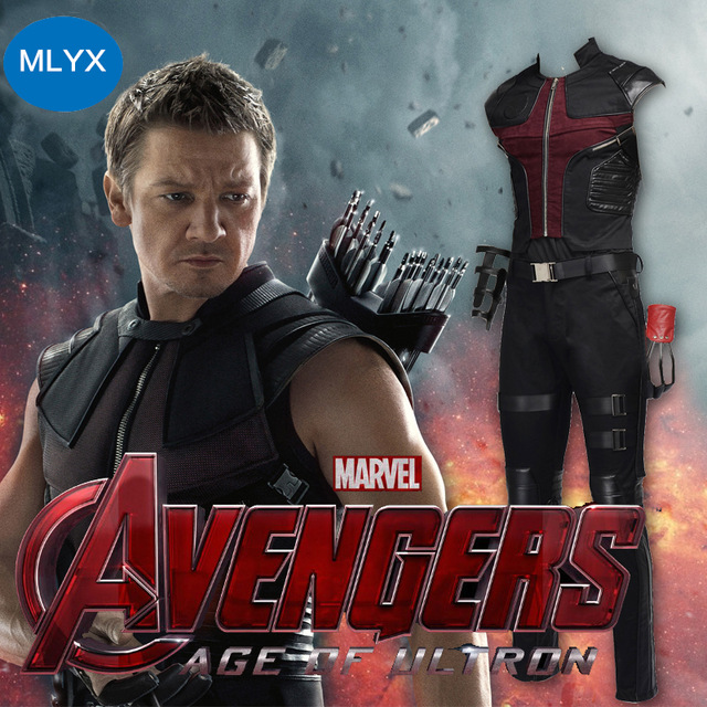 ManLuYunXiao Cosplay Costume Hawkeye Costume Clinton Francis Barton the Avengers Cosplay Costume Men Jacket Adult Free Shipping