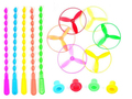 New 5Pcs/lot Spin Mix Color Light Outdoor Toy Flying Saucer Disc Frisbee Category UFO Plastic Kids Toys Baby Gift Wholesale+
