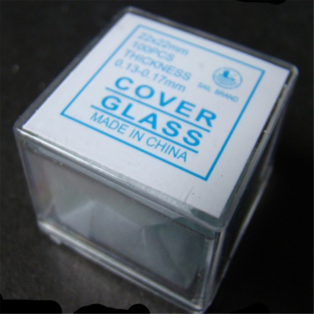 100pcs/box microscope cover glass For Preparation Of Specimen for microscope  side length 18 20 22 24 burton menswear london burton menswear london bu014emink18