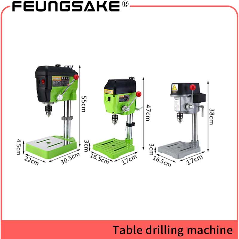 220V 680W Mini Drill Press Bench Small electric Drill Machine Work Bench 1-13mm For DIY Wood Metal Electric Tools Variable Speed manual metal bending machine press brake for making metal model diy s n 20012