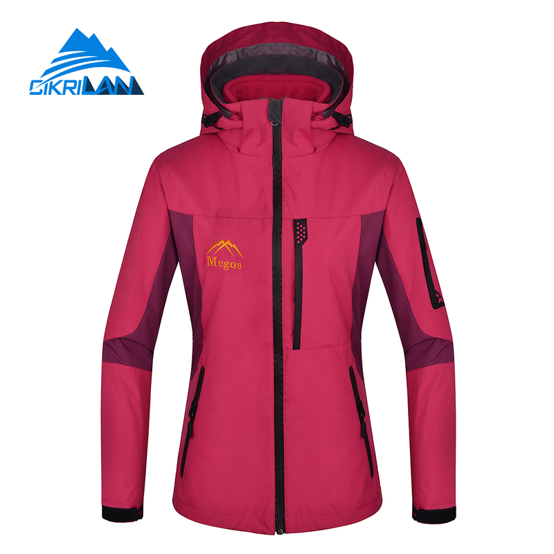 ФОТО Hot Sale 2016 3 In 1 Hiking Camping Breathable Windproof Chaquetas Mujer Outdoor Sport Winter Jacket Women Climbing Thermal Coat