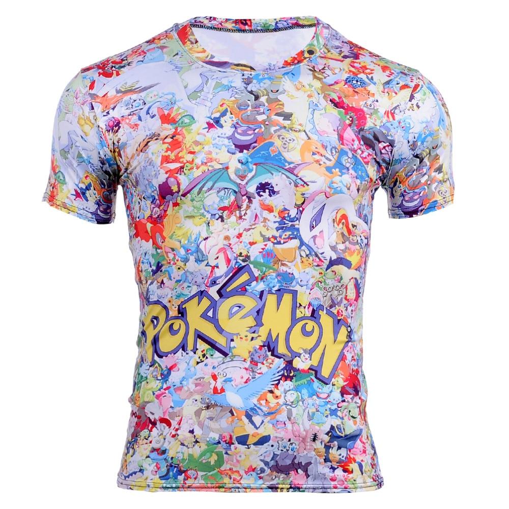 New Men s font b Pokemon b font Pikachu font b t b font font b
