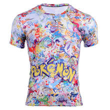 New Men's Pokemon Pikachu t shirt Vibrant Cute Cartoon Kawaii T-shirt Summer Fashion Fitness Tee Tops Brand Shirts Camisa