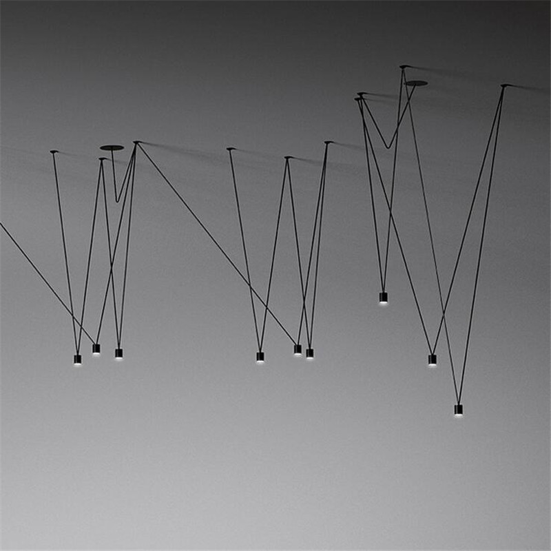 Nordic Vibia Line Geometric Led Pendant Light DIY Adjustable Match Design Line Geometric Hanging Lamps  Home Decor Light Fixture