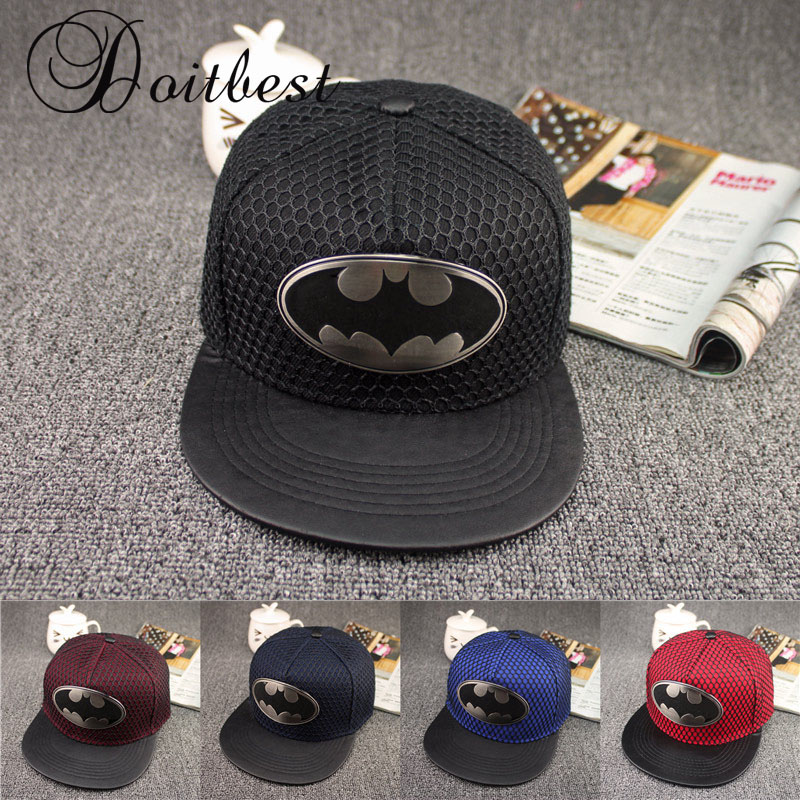 2017 New Fashion Summer Brand Batman Baseball Cap Hat For Men Women Casual Bone Hip Hop Snapback Caps Sun Hats boapt unisex letter embroidery cotton women hat snapback caps men casual hip hop hats summer retro brand baseball cap female