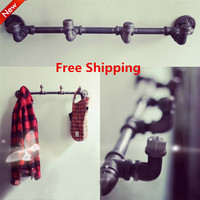 Wall Hangers On The Wall Clothing Display American Retro Iron Pipe Coat Rack Clothing Store Shelf