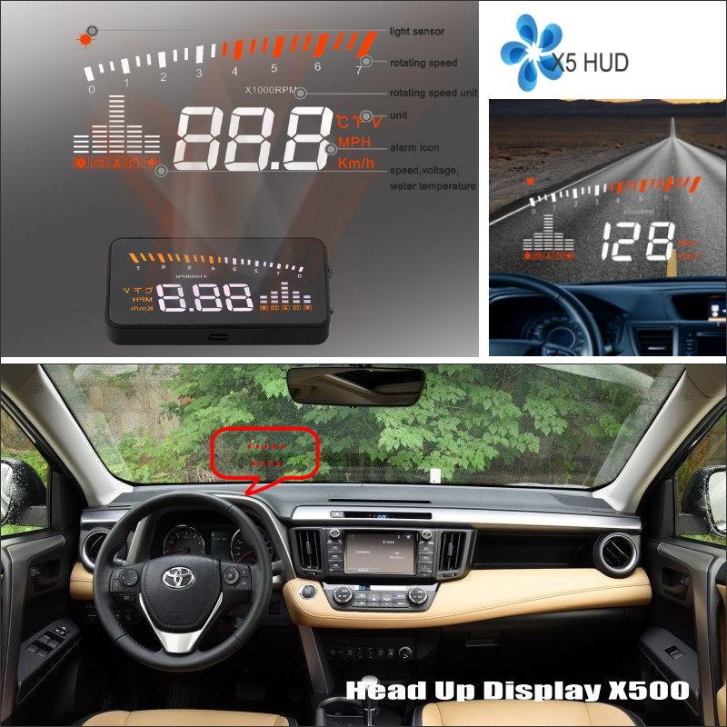 Car HUD Head Up Display For Toyota RAV4 - Refkecting Windshield Screen Safe Driving Screen Projector купить в Москве 2019