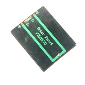 "Image 2 - שמש נייד Mini 0.5 W 2.5 V פנל סולארי BUHESHUI אפוקסי פנל מטען סולארי Polycrystalline פנל צעצוע DIY 58*70*3 מ""מ 2 יח\חבילה"