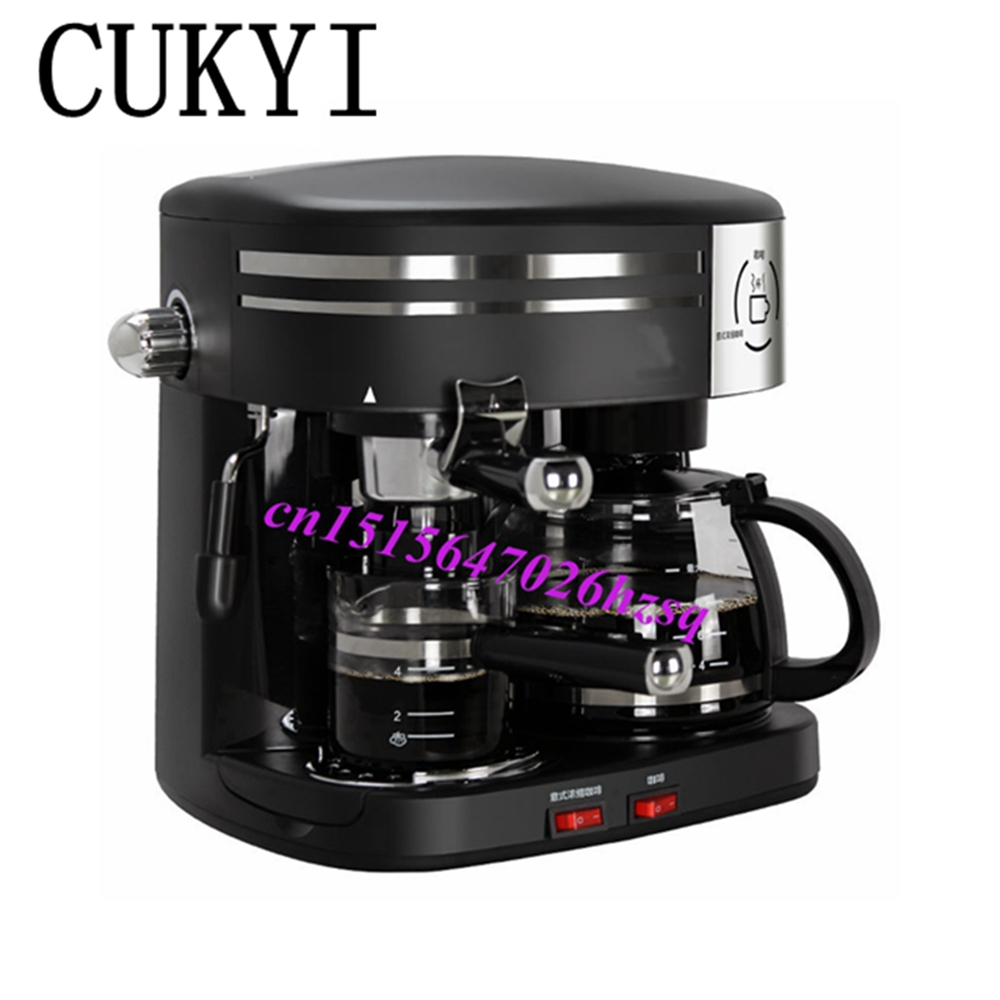 CUKYI High Quality 3 in 1 automatic Coffee Machine,American vacuum drip Coffee Italy espresso coffee Maker Machine cukyi american coffee machine tea boiler automatic insulation drip type 2 persons portable washable high quality ceramic cup