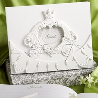 Free Shipping Cinderella Theme Fairytale Coach Wedding Guestbook/Wedding Accessories/Party Supplies